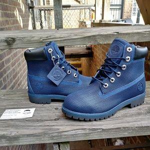 Timberland Waterproof Boots Navy Blue Size 5.5